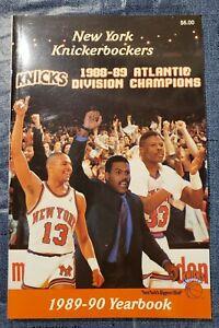 1989-90 New York Knicks Yearbook (Media Guide)