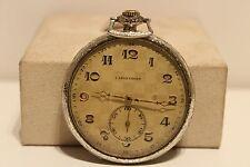 "Mechanical Watch""Langendorf 4;/Nice Relief Dial Antique Art Deco Rare Swiss Pocket"