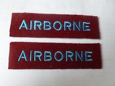 PARACHUTE REGIMENT/AIRBORNE WORLD WAR 2 REPRODUCTION SHOULDER TITLES