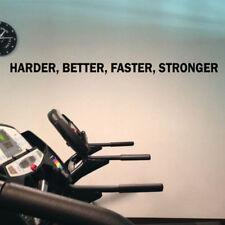 Harder Better Faster Stronger Word Vinyl Wall Sticker Decal Sport Gym Motivation