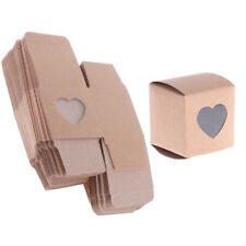 50 X Kraft Rustic Candy Gift Boxes Heart Window Decor Gift Favors