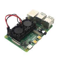 Dual Fan CPU PCB Cooling Fan Cooler Heat Sink Module for Raspberry pi 4 Xj