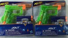 Nerf N-Strike Elite Jolt By Hasbro W/ 2 Soft Bullets, Green, New in Package, Lot