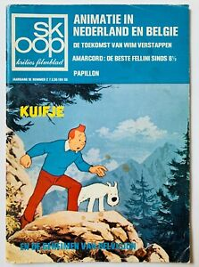 TINTIN KUIFJE vintage 1974 Dutch Film Magazine SKOOP Belvision