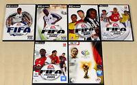 6 PC SPIELE SAMMLUNG - FIFA 2001 2002 2003 2004 2005 2006 WM DEUTSCHLAND