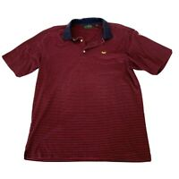 Amen Corner Masters Collection Red Blue Striped Polo Golf Shirt Mens Size Large