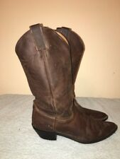 Justin L4935 Brown leather cowboy western boots size 9B