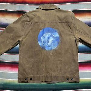 CC Filson Tin Cloth Short Cruiser Jacket Custom painted Medium