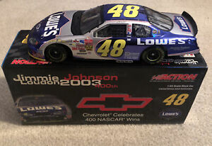 #48 JIMMIE JOHNSON LOWES 2003 CHEVY 400 WINS 2004 1/24 RCCA  DIN 42 OF 600 NEW