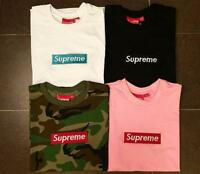 SUPREME BOX LOGO Classic pure color cotton T-shirt pocket shirt S-XXL-NEW