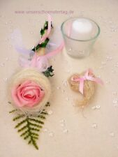 4-tlg. Tischdekoration rosa zur Hochzeit Verlobung Kommunion Konfirmation Taufe
