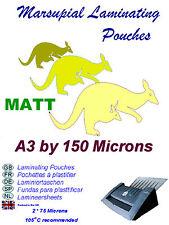A3 laminazione BUSTE 13 Finitura Opaca 150 MICRON (ad alta illuminazione area di utilizzo)