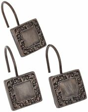 """Carnation Home Fashions """"Lakewood"""" shower curtain hooks, Set of 12 CAR-PHP-LW/67"""