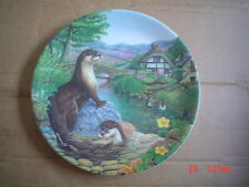 Davenport Collectors Plate Otters At Play From The Secret Life Of The Farm