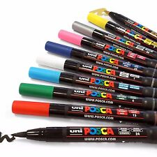 POSCA PCF-350 Brush Tipped Paint Marker Art Pen - Set of 3