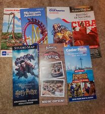 Lot of 10 Amusement Park Maps from 2016-19 (your choice!) (Disney, CF, 6F!)