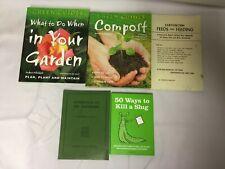 5x Organic Gardening Books Green Guides 50 Ways to Kill a Slug Feeding Earthworm