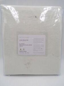 "Pottery Barn Classic Belgian Flax Cotton Lined Curtain Drape Ivory 100x96"" #J138"