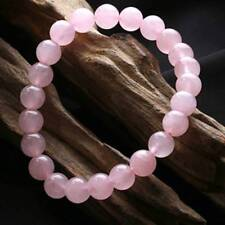 Natural 8mm Rose Quartz Healing Crystal Stretch Beaded Bracelet Unisex