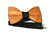 Wooden unisex bow tie. Wood bow tie for women. Handmade man bow tie