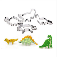 4pcs Dinosaur Cookie Biscuit Cutter Mold Cake Pastry Baking Tool Stainless Steel