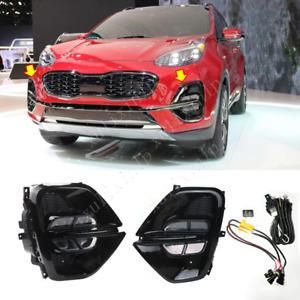 For 2020-2021 Kia Sportage KX5 LED Front Fog Lamp Kit w/ Wiring/ Switch/ Bezel