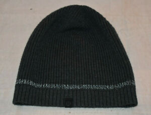 Lululemon O/S Unisex 100% Merino Wool Gray Beanie Cap Ski Activewear