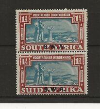 South West Africa 1938 Voortrekker sg.110 MH vertical pair