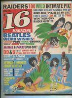 16 Magazine Aug 1966 Raiders Beatles Mamas & Papas Fang Herman Hermits  MBX41