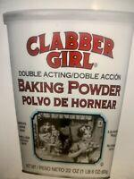 CLABBER GIRL BAKING POWDER GLUTEN FREE 22 OZ CAN SUPERSIZED