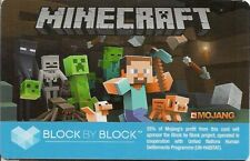Mojang Minecraft Steve Mob Monsters Gift Card 2013 Collectible Only - No Game!