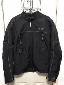 NWOT Black Harley Davidson FXRG Nylon Motorcycle Riding Jacket Size Medium