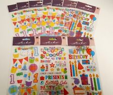 Sticko Sticker Pack Lot of 10 1st Birthday Party, Candles, Cake, Sayings, Baby