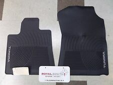 Toyota Tundra 2007 - 2011 2-Piece All Weather Rubber Floor Mats Genuine OEM OE