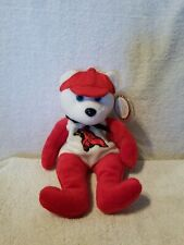BEAR Collectible Celebrity Red/White Bear Star #25 Red Cardinal 9/8/1998