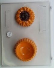 SUNFLOWER POUR BOX CLEAR PLASTIC CHOCOLATE CANDY MOLD AO117