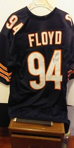 Chicago Bear Leonard Floyd Autographed Blue Jersey