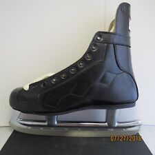 Vintage Nos Golden Jet by Oberhamer Black Leather Ice Skates w/ Org.Box 7 1/2