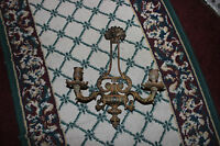 Vintage Victorian Gothic Wall Mounted Sconce Candle Holder Cast Metal Holds 2
