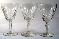 """Set of 3 Signed CRISTAL SEVRES 5 5/8"""" Wine Glasses"""