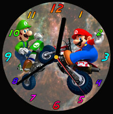 Mario Brothers Bikes CD Clock, free stand can be personalised