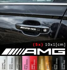 5x Mercedes AMG Logo Sticker Car Door Handle Decal Aufkleber Türgriff 10x1 [cm]
