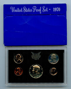 1970 United States Proof Set Complete 5 Coin Set