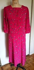 Vintage NORDSTROM Town Square not pink abstract print pleats midi dress 8