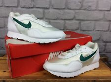 NIKE LADIES UK 4 EU 37.5 WHITE GREEN LEATHER NYLON OUTBURST OG TRAINERS