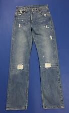 Levis 501 W29 L34 tg 42 43 jeans uomo usato vintage destroyed boyfriend T3383