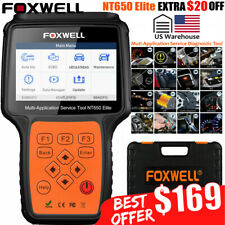 Automotive OBD2 Scanner ABS, SRS, BRT, DPF Injector TPMS EPB Foxwell NT650 Elite