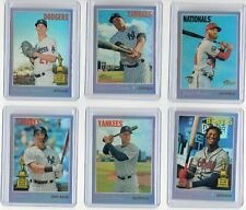 2019 Topps Heritage Hot Box CHROME PURPLE REFRACTOR Card-YOU PICK
