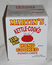 MARTIN'S HAND COOK'D 3  LBS KETTLE COOKED POTATO CHIPS From PA.