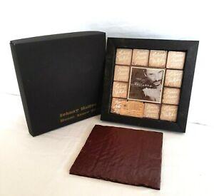 Johnny Hallyday - Bonne année 2002 - Chocolat avec photo album sang pour sang